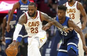 Wiggins, Butler lead 127-99 Wolves romp past James, Cavs