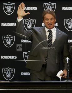 Gruden welcomed back to Raiders 16 years after departure