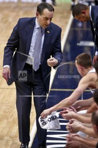 Coach K misses Duke's game against Wake Forest with virus