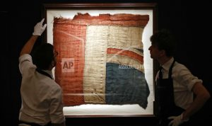 Fragment of flag from Nelson's HMS Victory up for auction