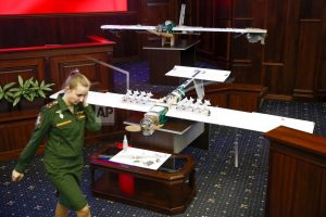 Russian military shows drones it says came from Syria raid