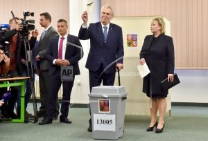 The Latest: Czech president to face runoff election