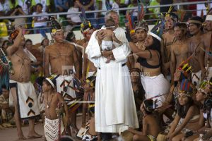 The Latest: Pope Francis arrives in Peru's Amazon