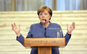 Germany's chancellor supports dialogue between EU, Turkey