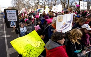 Across the globe, rallies against Trump, sexual misconduct