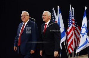 In Israel, Pence says US aims to pull out of Iran nuke deal