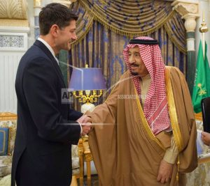 US House Speaker meets Saudi king in regional security talks