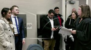 Couple weds in courthouse bathroom after mom falls ill