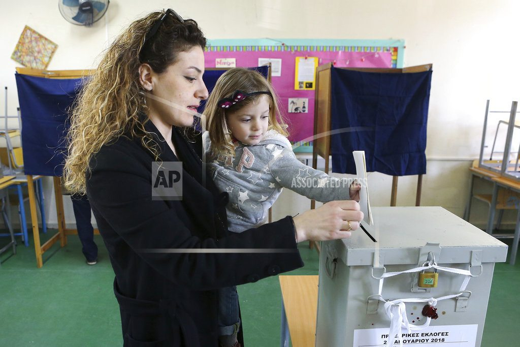 The Latest: Incumbent tops Cyprus vote, faces runoff