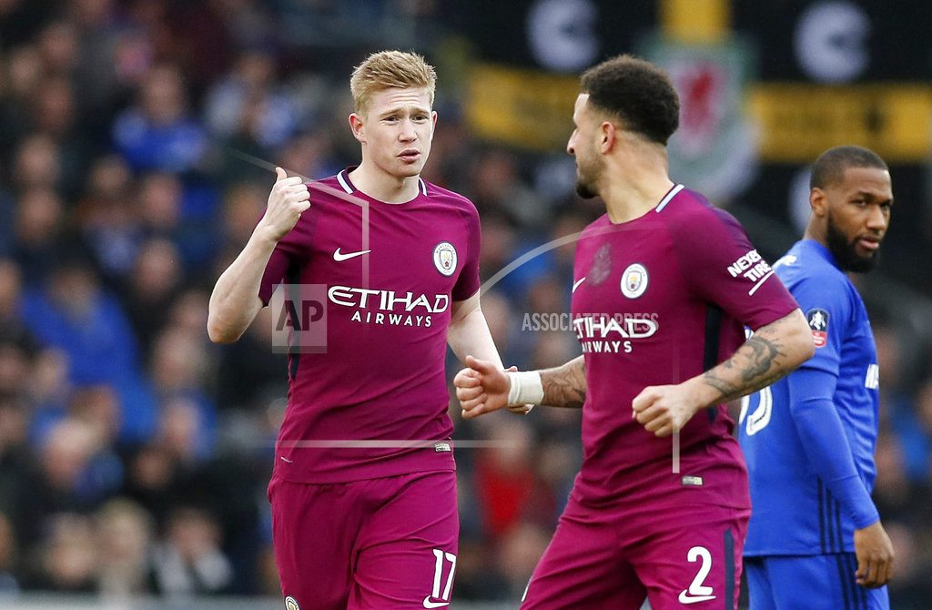 Quadruple still on for City after FA Cup win at Cardiff