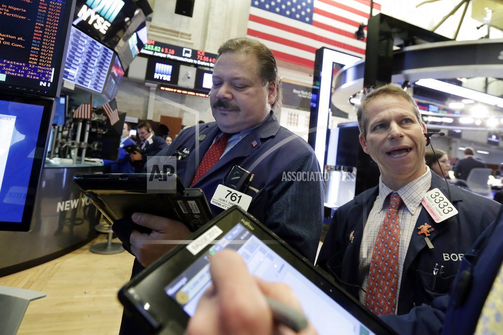 Earnings drive gains for US stocks in midday trading