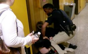 Deaths threats cause lockdown after teacher handcuffed video