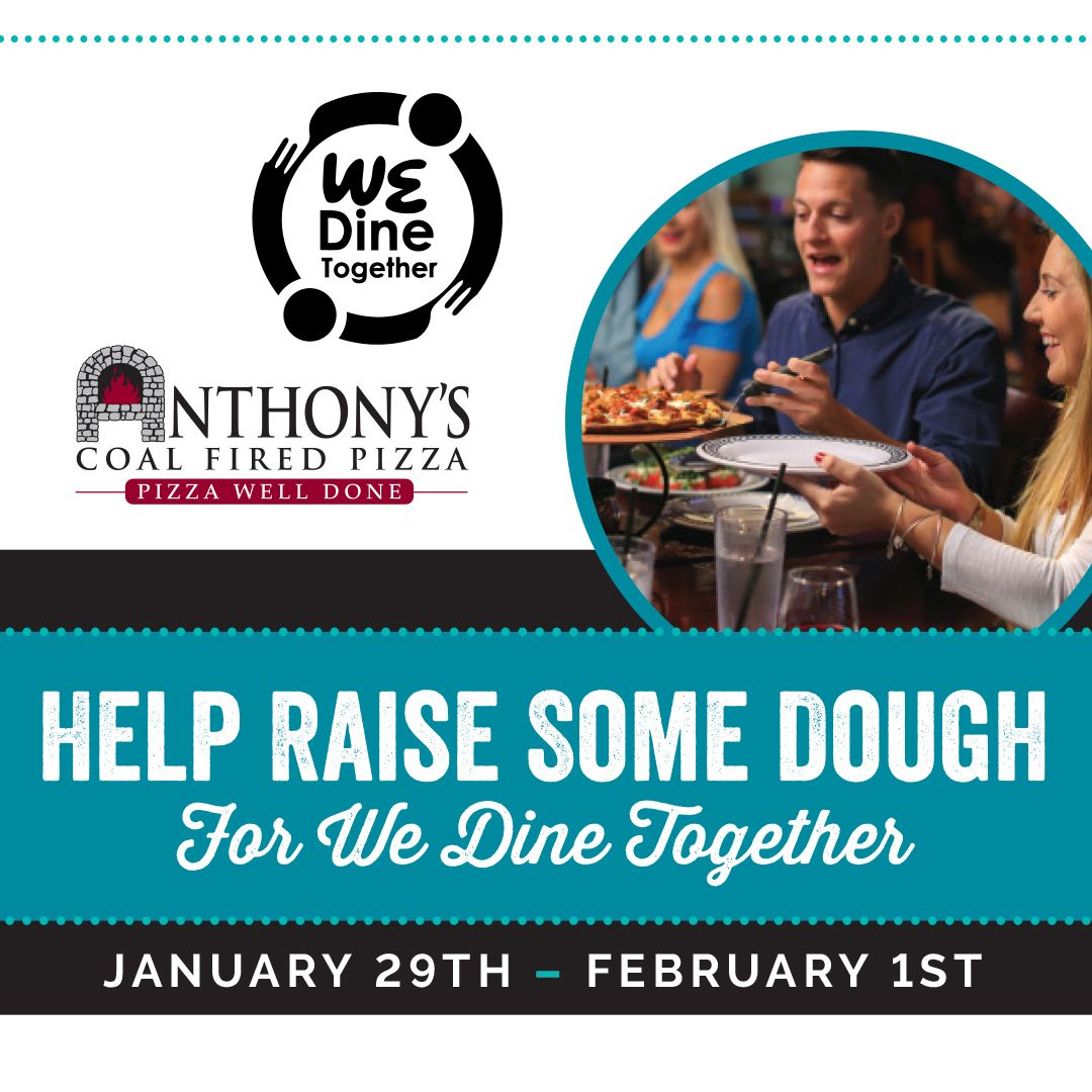 """Anthony's Coal Fired Pizza to Host Four-Day, Five-Restaurant Giveback in Support of Boca High's """"We Dine Together"""" Program"""