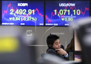 Asian shares decline after Wall Street rally fizzles