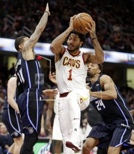 Cavaliers blow big lead, hang on to beat Magic 104-103