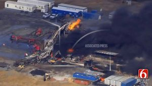 Sheriff: 5 workers presumed dead in Oklahoma rig explosion