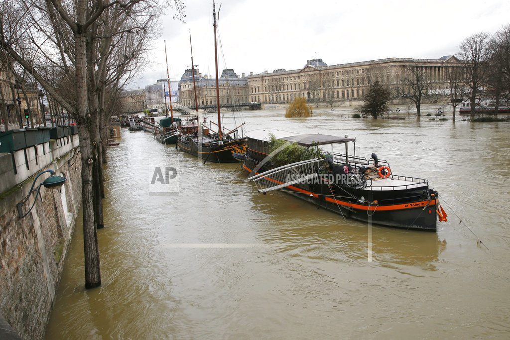 Floods peak in Paris as France sees worst rains in 50 years