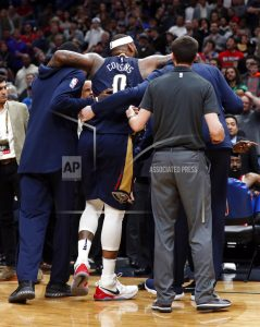 Injury ends Cousins' season in Pelicans' win over Rockets