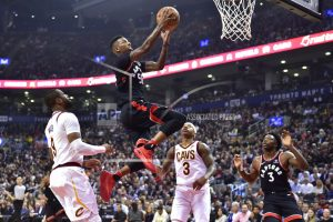 James, struggling Cavs routed again, Raptors romp 133-99
