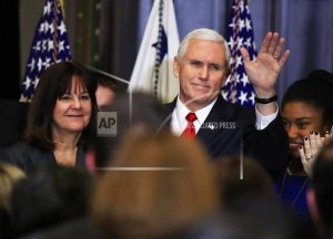 The Latest: VP Pence takes off on trip to Middle East