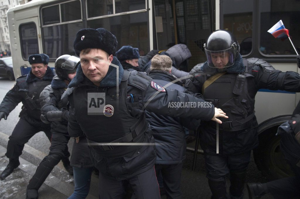 Russian opposition leader Navalny arrested amid protests