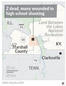 Kentucky shooting suspect ordered held in juvenile court