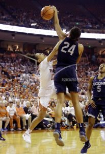 Top-ranked UConn survives upset scare from No. 9 Texas 75-71