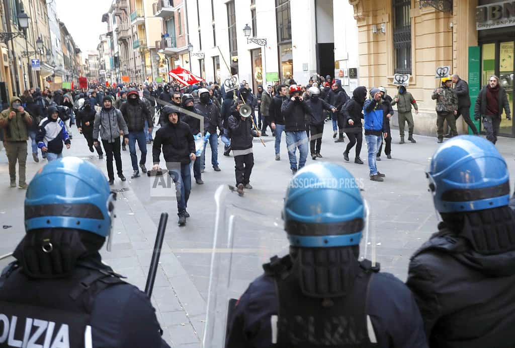 Italians march to protest fascism, racism, labor, vaccines