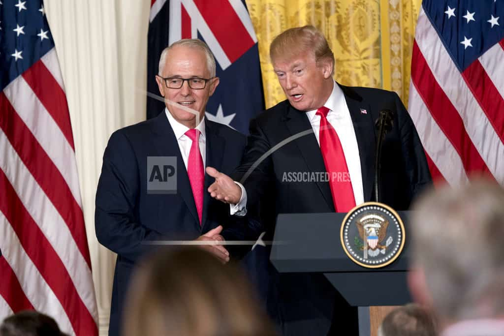 Trump, Turnbull praise each other on immigration and taxes