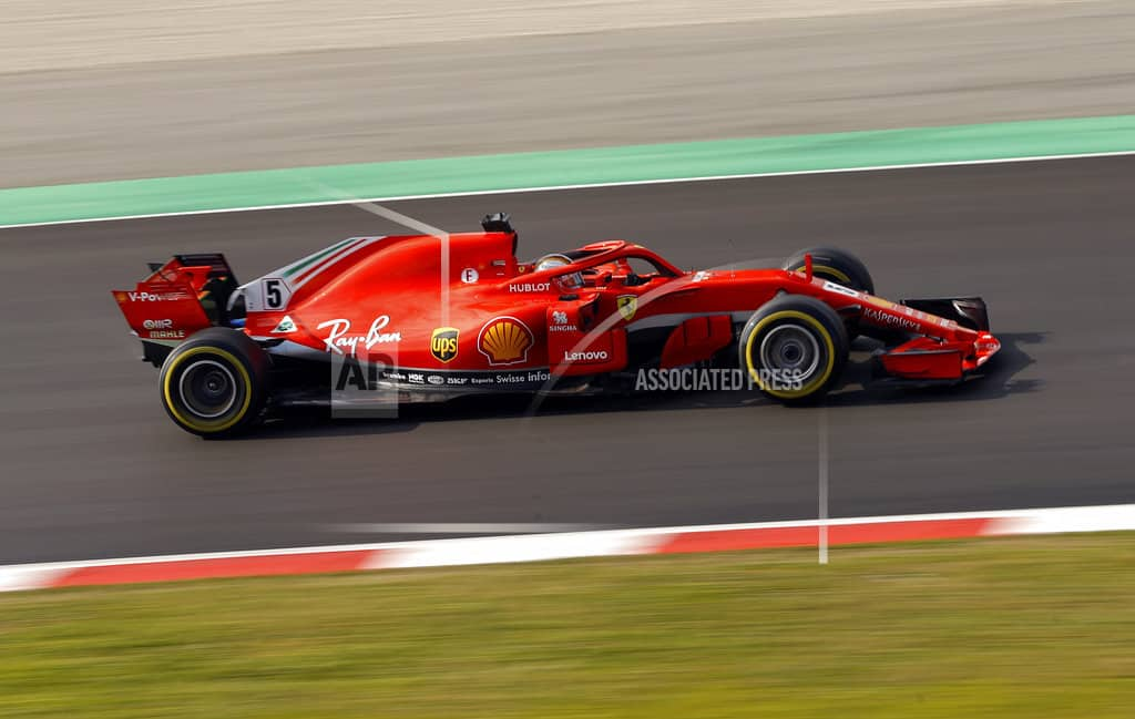 Vettel fastest in Ferrari on cold 2nd day of F1 testing