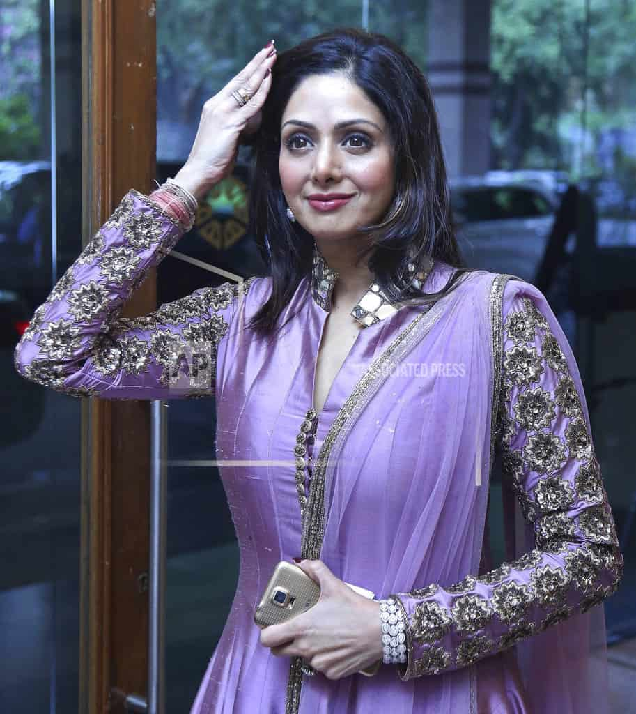 Sridevi, Bollywood leading lady of '80s and '90s, dies at 54