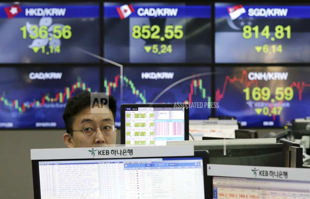 Global shares advance as investors' jitters ease