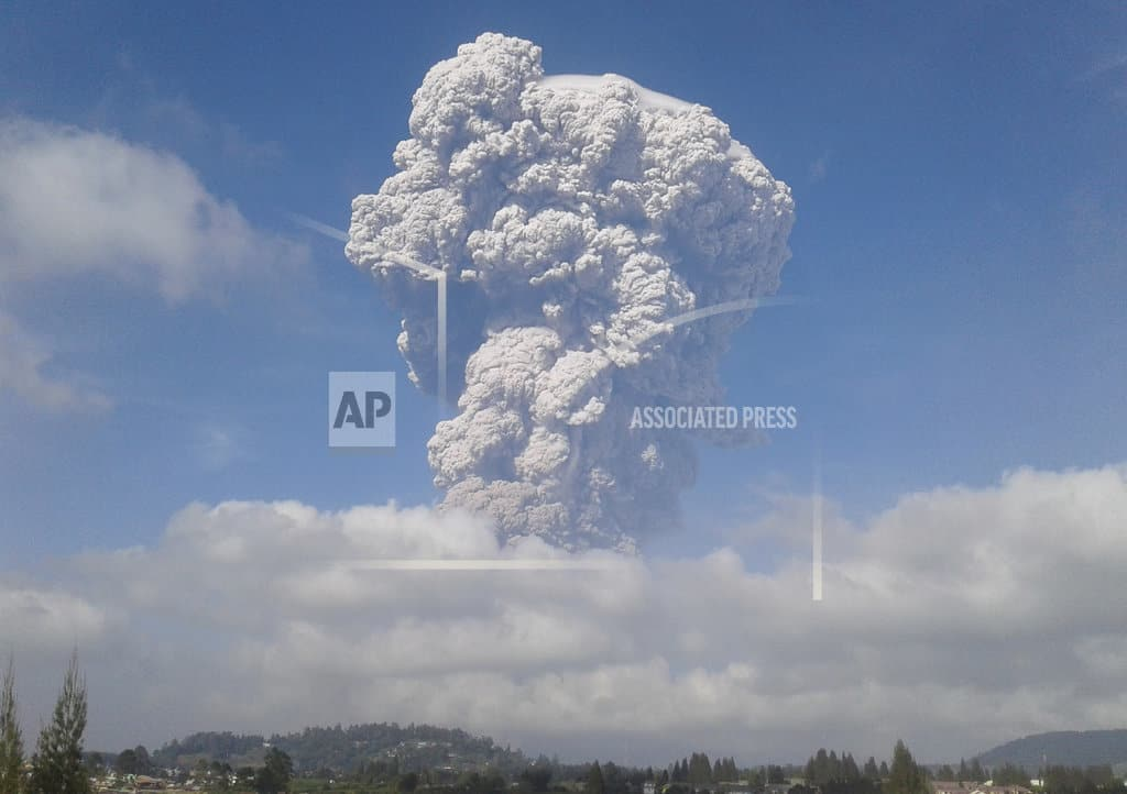 Indonesia's Sinabung volcano unleashes towering ash column