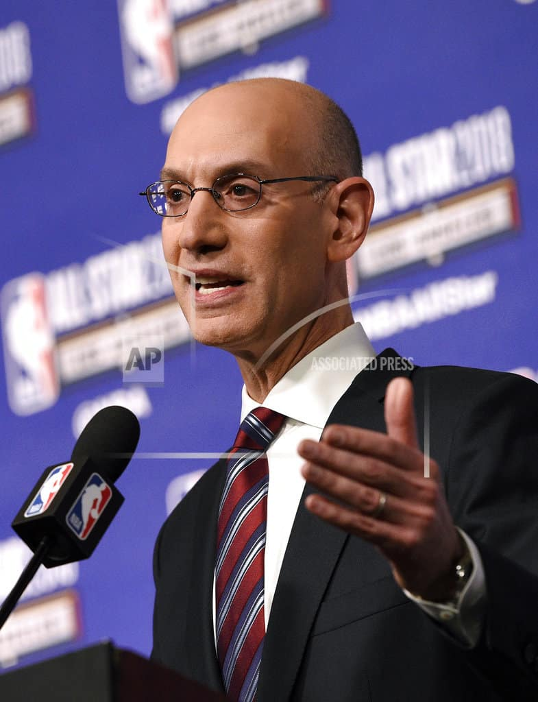 NBA commissioner lauds refs, players for airing differences