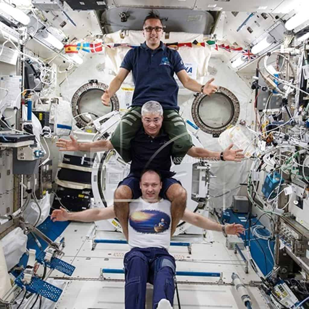 3 space station astronauts return to Earth