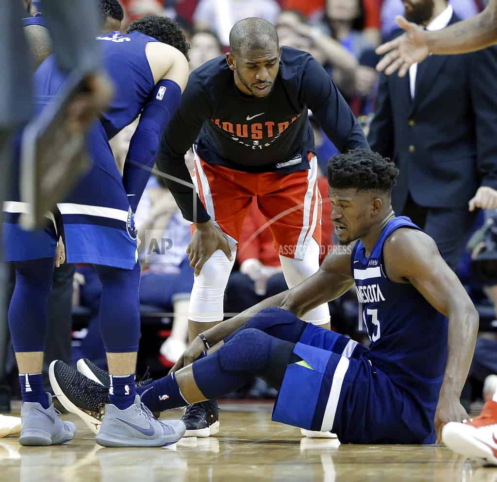 Timberwolves' Jimmy Butler has meniscal injury to right knee