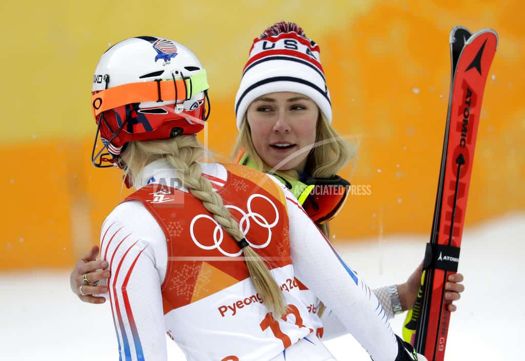 The Latest: Shiffrin not so sure Vonn is done with Olympics
