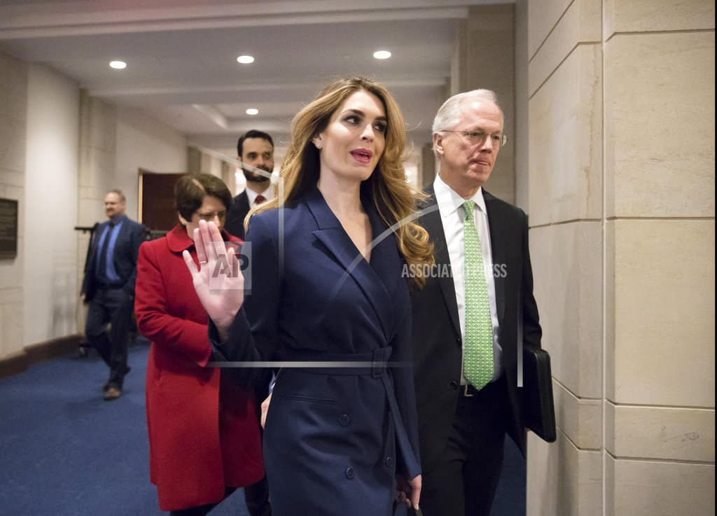 Hicks acknowledges 'white lies' for Trump, but not on Russia