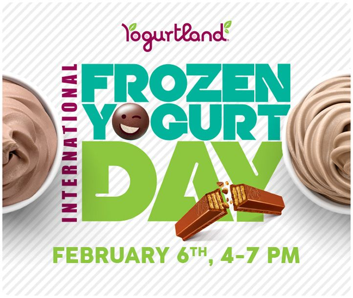 Yogurtland Celebrates Seventh Annual International Frozen Yogurt Day On February 6, 2018