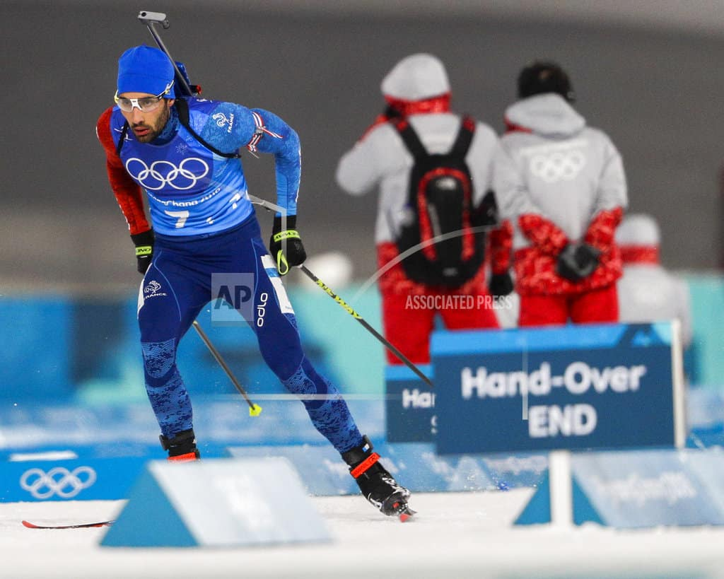 The Latest: France's Fourcade goes for 4th Pyeongchang medal