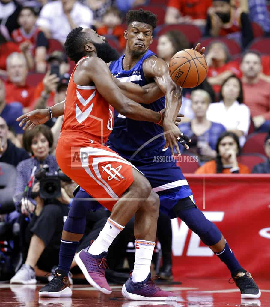 Butler hurt as Rockets beat Wolves for 11th straight win