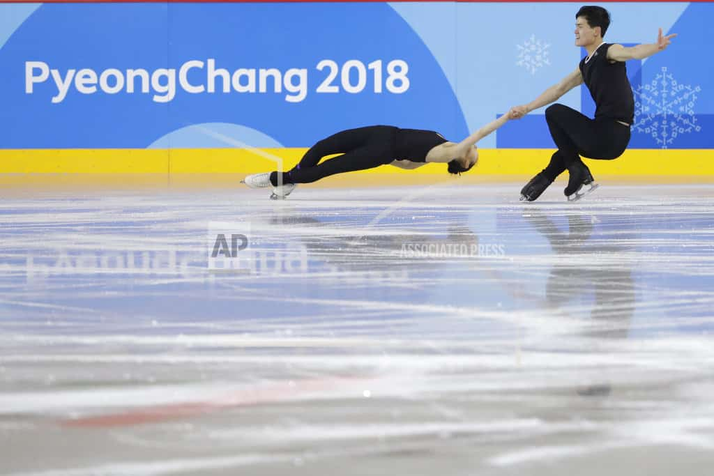 N. Korea skaters draw applause during Olympic practice