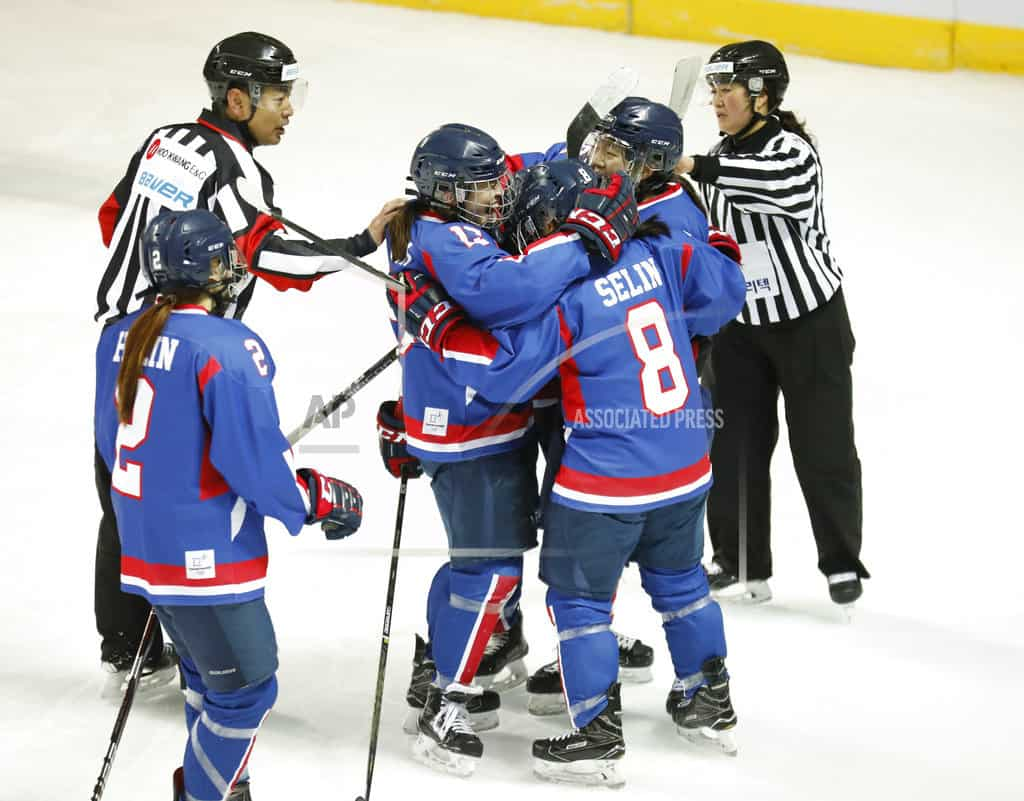 Koreas' combined women's hockey team debuts in friendly