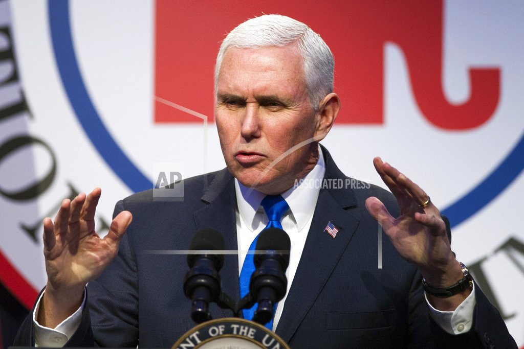 The Latest: Pence Olympic trip won't be affected by shutdown