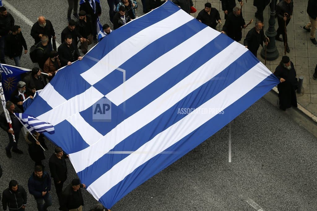 Protesters gathering in Athens for Macedonia name rally