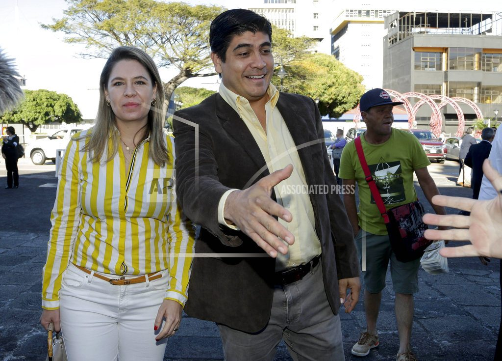 Evangelical, ruling party candidate eye runoff in Costa Rica