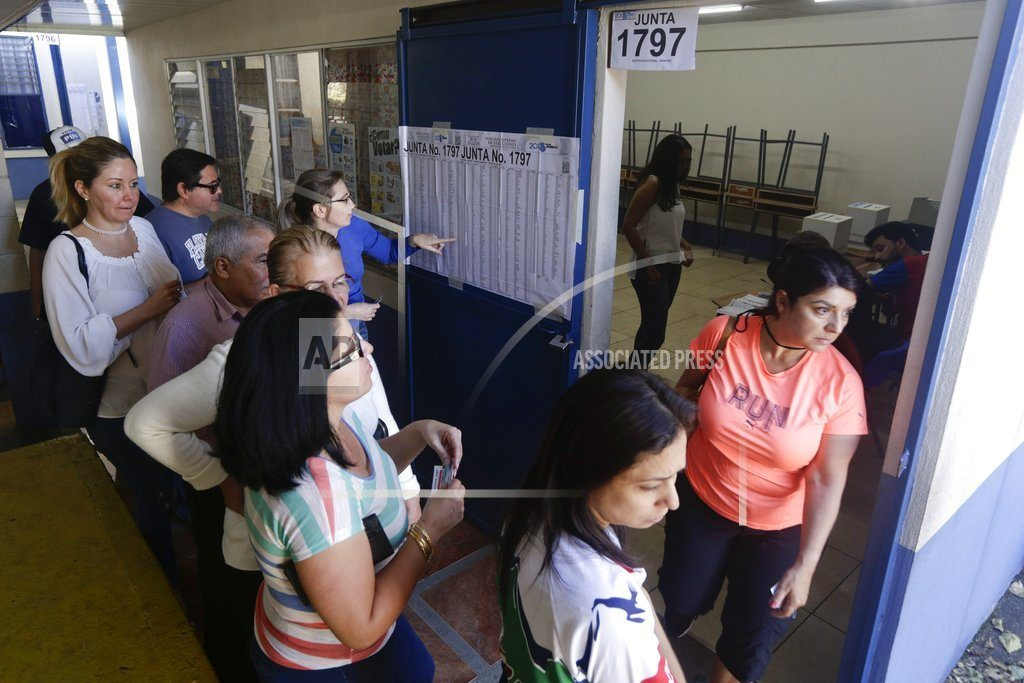 The Latest: Evangelical leads Costa Rica presidential vote