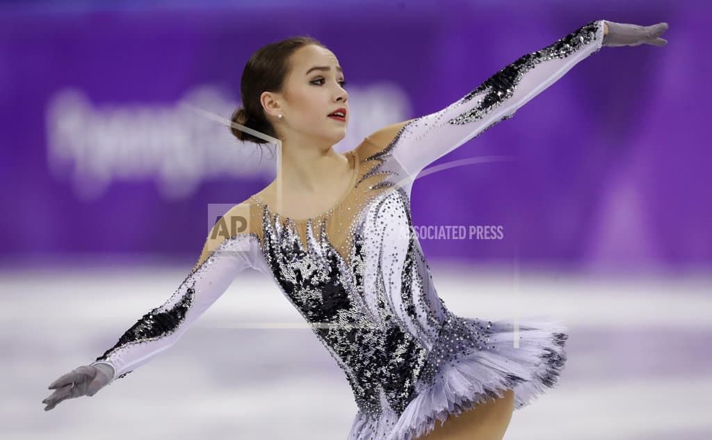 The Latest: Russians dominate women's figure skating
