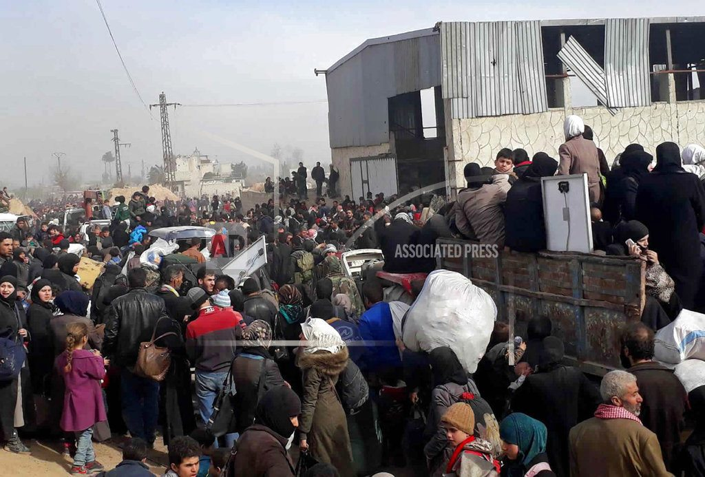 The Latest: Syrian army claims 70 percent of eastern Ghouta