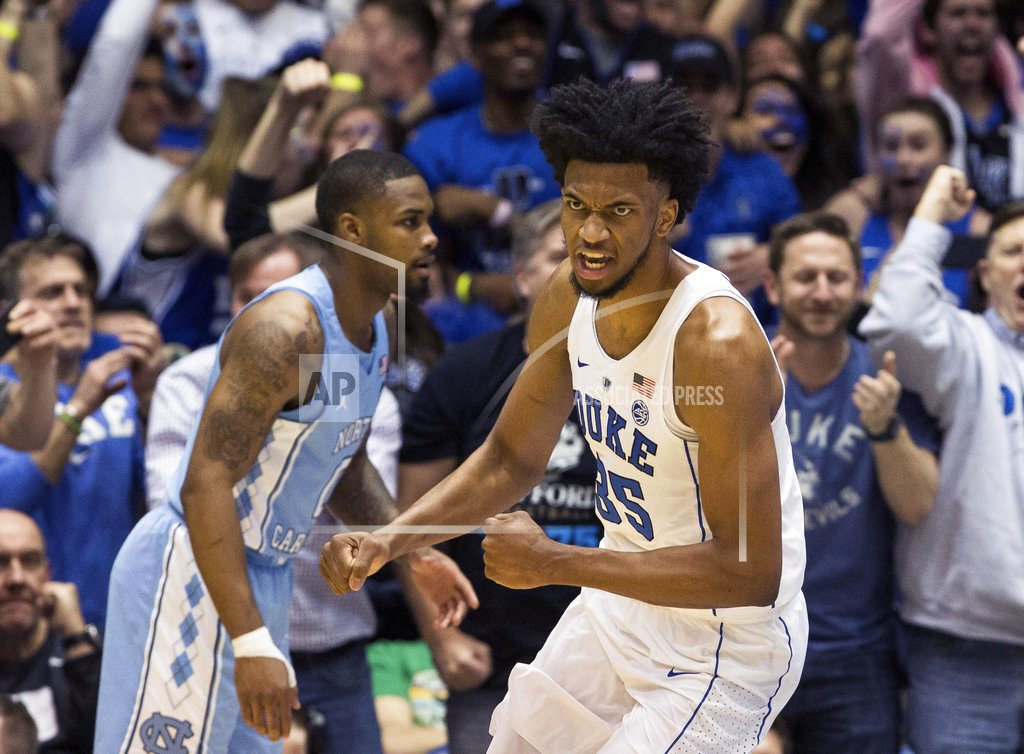 Duke's Marvin Bagley says he will enter the NBA draft